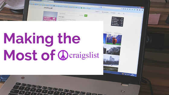 "Blog Header that reads ""Making the most of Craigslist""- Craigslist Ad"