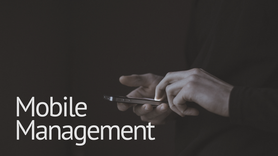 "Blog Header that reads ""Mobile Management""- Mobile Property Management article"